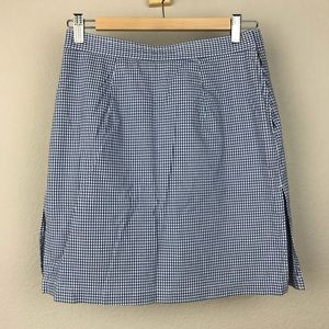 VTG 90s Liz Claiborne Cotton Blue Gingham Skort